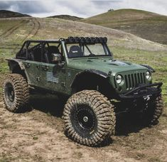 A collection of customized jeeps that I find cool and interesting. Dodge Trucks, Jeep Truck, Big Trucks, Jeep Wrangler Rubicon, Jeep Wrangler Unlimited, Jeep Wranglers, American Dream Cars, Hors Route, Green Jeep