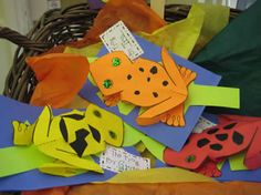 oh MY this site is filled with AWESOME classroom projects and crafts that will fill a unit on the Rainforest past overflowing! New ideas for the same topic we have used 3 years in a row! Great for ocean and farm also! Rainforest Classroom, Rainforest Crafts, Rainforest Project, Rainforest Theme, Rainforest Frog, Rainforest Activities, Preschool Jungle, Jungle Crafts, Frog Crafts