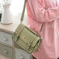 Twist-Lock Belted Stitched Satchel from #YesStyle <3 CatWorld YesStyle.com