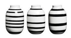Kähler - Omaggio Miniature Vaser Sort (sæt á 3)