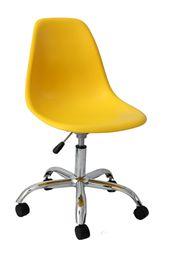 Empório Country Móveis: Cadeira Design em Polipropileno Rodízio