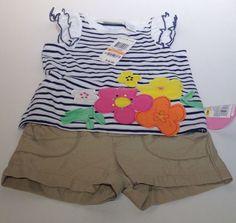 Toddler 2 Piece Flower Shirt Shorts Set Size 12 Months #Circo #Casual