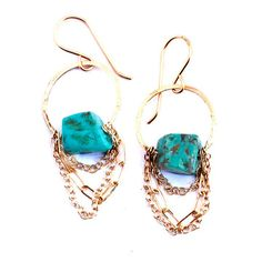 Turquoise Drape Earrings, $113, now featured on Fab.