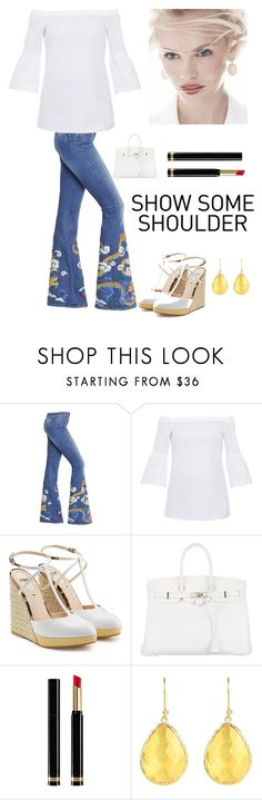 """""""Spring Fashion"""" by kotnourka ❤ liked on Polyvore featuring The Seafarer, Lafayette 148 New York, Fendi, GINTA, Hermès, Gucci and Latelita"""