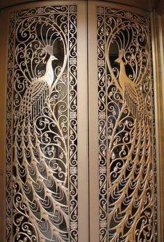 doors, Palmer House Hotel Door to the former C. Peacock jewelry store on State Street at Monroe in Downtown Chicago, Illinois.Door to the former C. Peacock jewelry store on State Street at Monroe in Downtown Chicago, Illinois. Art Nouveau, Art Deco, Cool Doors, Unique Doors, Palmer House, Hotel Door, Door Knockers, Entry Doors, Front Entry