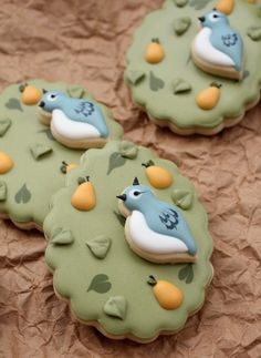The 12 Days of Christmas-Partridge in a Pear Tree Cookies