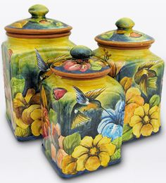Mexican Majolica Pottery for Sale - Majolica Plates, Vases & Ceramics Mexican Furniture, Rustic Furniture, Mexican Interior Design, Cottage Garden Design, Talavera Pottery, Kitchen Canisters, Hand Painted Ceramics, Clay Art, Art Decor