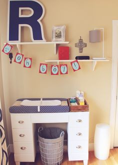 Old Desk Repurposed For Changing Table