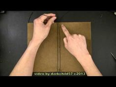 ▶ DIY: Refillable leather journal cover with elastic tie - YouTube. SO making Ethan one with his moleskein