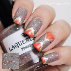 #nail #unhas #unha #nails #unhasdecoradas #nailart #gorgeous #fashion #stylish #lindo #cool #cute #fofo #laranja #orange #cinza #grey #gray