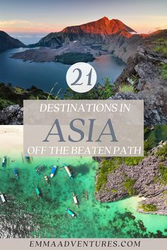 Your ultimate guide to travelling off the beaten path in Asia! 21 of the best unique places to visit in Asia and South East Asia. Avoid the tourists with these amazing places to visit in Asia. Off the beaten path in Asia, where to go in Asia, best places in Asia. Best Places To Travel, Cool Places To Visit, Travel Guides, Travel Tips, Travel Around The World, Where To Go, Southeast Asia, Adventure Travel, The Good Place