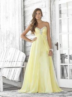 Cheap Sexy A-line Sweetheart Beading Sleeveless Floor-length Chiffon Dresses