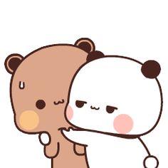 Cute Bunny Cartoon, Cute Couple Cartoon, Cute Kawaii Animals, Cute Cartoon Pictures, Cute Love Pictures, Cute Love Cartoons, Cute Images, Cute Bear Drawings, Cute Animal Drawings Kawaii
