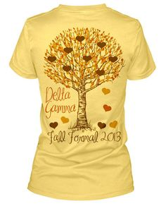 Pretty shirt and colors!! Fall in love with DZ maybe? make it for fall recruitment? kappa delta www.greekt-shirtsthatrock.com