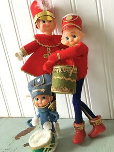 Vintage 1960's Christmas Holiday Pixie Elf Elves by HouseOnHill