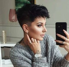 11 hottest short hairstyles you should try rozvita Undercut Pixie hairstyles Hottest Rozvita short Pixie Haircut For Thick Hair, Short Hair Undercut, Short Pixie Haircuts, Fade Haircut, Tomboy Hairstyles, Cool Hairstyles, Pixie Hairstyles, Wedding Hairstyles, Short Hair Cuts For Women