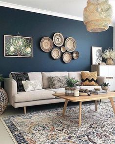50 Best Blue Living Room for Gorgeous And Dlegant Spaces,navy blue living room ideas,grey and blue living room ideas,blue living room color schemes Best Picture For baskets decor bathroom For Your Tas Beige Living Rooms, Navy Blue Living Room, Accent Walls In Living Room, Living Room Color Schemes, My Living Room, Living Room Designs, Living Room Decor, Grey Living Room Ideas Colour Palettes, Small Living