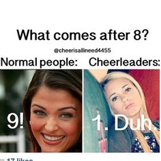 cheer quotes Haha i do this in class all the time Most people wouldnt get it-_- Funny Cheer Quotes, Cheer Qoutes, Cheer Funny, Cheer Sayings, Dancer Quotes Funny, Ballet Quotes, True Quotes, Cheerleading Memes, Cheer Stunts