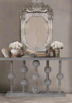 Milano Console Table.    Forget the table...I love the mirror!!