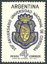1964 Argentina  - Universidad Nacional de Córdoba-Emblema