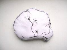 dibujado de gato almohada gato amante regalo decorativo peluche peluche lindo pintado a mano decoración casa peluche
