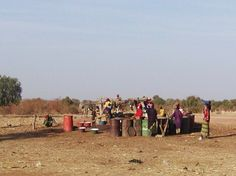Women getting water at a well in Niger