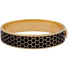 Halcyon Days Honeycomb Bangle ($185) ❤ liked on Polyvore featuring jewelry, bracelets, hinged bracelet, bangle jewelry, honey comb, cuff bangle and halcyon days