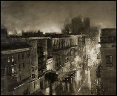 """""""Composition #125 by Jeremy Mann - Oil on Panel - 37 x 45 in."""