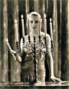 Carole Lombard in a promotional image for the 1933 pre-Code film SUPERNATURAL.