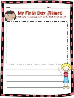 FREEBIE! This First Day Jitters activity is included in my First Day Jitters packet. The packet includes differentiated activities to help you teach many of the Common Core Literature standards from day one. B/W copy included also. Enjoy!