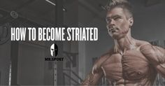 TIP OF THE DAY: The Fundamentals to Becoming Striated!  In terms of bodybuilding and just general muscle building, the quality of your overall look is just as important. There's no point being stacked if the condition and quality of your muscle doesn't show through. #MrSport has 3 methods to enhancing the separation and definition of our muscles!