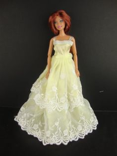 Brilliant White Ball Gown with One Shoulder Made to Fit the Barbie Doll
