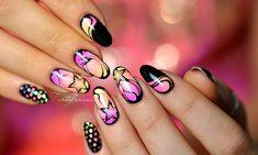 nail art étoile electro fluo