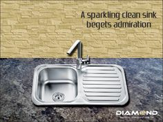 For a sparkling clean #Kitchen, you deserve a sparkling clean #DiamondSink. Explore the complete range @ www.diamondsink.in #SteelSink #SteelKitchenSink #StylishSinks #Sink