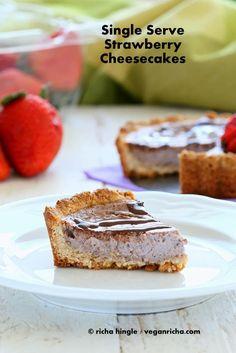 Strawberry Cheesecake Tarts for 2. Glutenfree Vegan Recipe - Vegan Richa