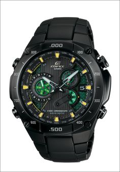 Women's Wrist Watches - Casio Mens Edifice Black Label Solar MultiBand Atomic Alarm Chronograph Link Bracelet *** Continue to the product at the image link. Amazing Watches, Cool Watches, Watches For Men, Wrist Watches, Men's Watches, Fashion Watches, Casio Edifice, Casio G-shock, Casio Watch