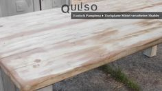 Shabby, Pamplona, Outdoor Furniture, Outdoor Decor, Table, Home Decor, House Styles, Old Wood, Cottage Chic