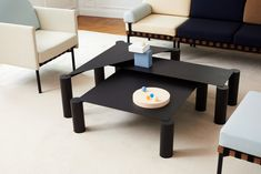 Thin Tables by Max Enrich for Petite Friture at IMM Cologne 2018 Steel Coffee Table, Black Coffee Tables, Modern Coffee Tables, Coffe Table, Black Furniture, Design Furniture, New Furniture, 2018 Interior Design Trends, Table For 12