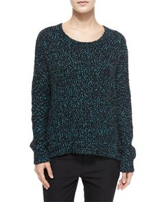 Long-Sleeve+Boucle+Sweater+by+Vince+at+Neiman+Marcus.