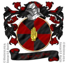 House Allyrion of Godsgrace. A golden hand on gyronny red and black