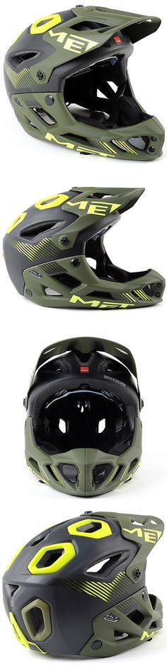 Helmets 70911: Met Parachute Mountain Bike Full Face Helmet BUY IT NOW ONLY: $169.95