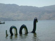 "Okanagan Lake - famous for it's ""Ogopogo"" sightings. We didn't see Ogopogo but we sure look for it! Winter Pictures, Old Pictures, Bc Home, Lake Monsters, Vancouver City, Pacific Coast, British Columbia, National Parks, Scenery"