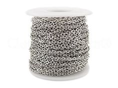 Shiny Silver Color 330 Feet 3x4mm Link Cable Chain Spool 100 Meters