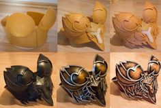 I seriously need to research more on Worbla/Wonderflex to make pieces like these.