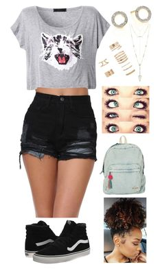 """""""Untitled #398"""" by rhay-q ❤ liked on Polyvore featuring Monica Vinader, Billabong, Vans, House of Harlow 1960 and Forever 21"""