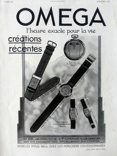 OMEGA watches advertising vintage poster Omega retro by OldMag