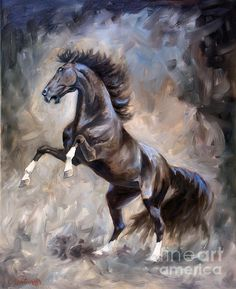 Horse Painting - Wild Thing by Jeanne Newton Schoborg Pretty Horses, Beautiful Horses, Horse Artwork, Horse Drawings, Equine Art, Horse Pictures, Wildlife Art, Wild Horses, Art Plastique