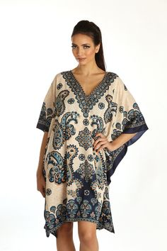 RK Essentials Short Kaftan | Beach wear | Tribal Ethnic | Plus Size Description :-> Add Rubina Kapoor's unique sense of style to your wardrobe this season, with the luxurious Tribal ethnic Paisley prints. ->Wear it alone or pair up with shorts, leggings or jeans. Shop :http://www.amazon.co.uk/Essentials-Short-Kaftan-Tribal-Ethnic/dp/B00UJXYS92/ref=sr_1_50?s=clothing&ie=UTF8&qid=1426926988&sr=1-50