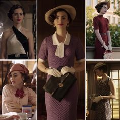 """Vintage Fashion Lily Collins on the set of """"The Last Tycoon"""" Vintage Outfits, Vintage Wardrobe, Retro Outfits, Vintage Dresses, Retro Mode, Vintage Mode, Lily Collins, 1930s Fashion, Vintage Fashion"""