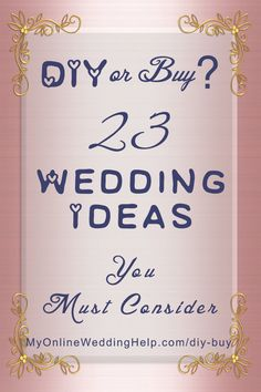 A big decision while planning your wedding is which areas you will DIY and which you will hire vendors to do. You may want to try planning the entire wedding yo Budget Wedding, Plan Your Wedding, Wedding Tips, Diy Wedding, Wedding Favors, Wedding Events, Destination Wedding, Dream Wedding, Wedding Crafts